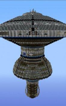 Hvězdná základna Federace, model Minecraft