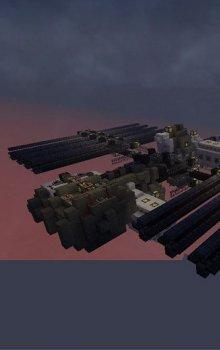 Mezinárodní kosmická stanice vymodelovaná v prostředí Minecraft.