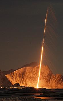 Start sondážní rakety.
