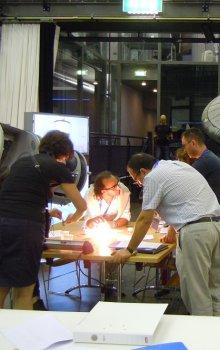 Jedna z odborných dílen workshopu ve středisku ESA-ESTEC.