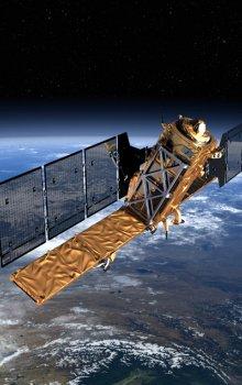 Model družice Sentinel-1.