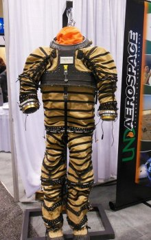 Space Suit for Mars exploration developed by students at the University of North Dakota.