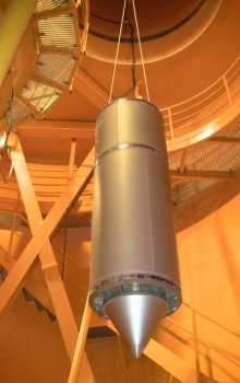Pouzdro pro experiment v pádové věži ZARM v Brémách
