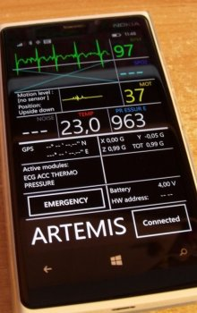 The status evaluation unit of the monitored person in smartphone.