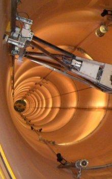 Pohled do vnitřních prostor pádové věže.