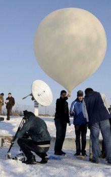Start stratosférického balonu.