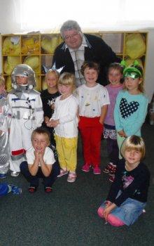 Beseda o kosmonautice v Mateřské škole v Rudné během WSW2014.