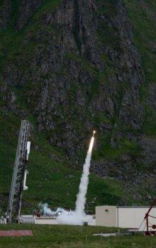 Start studentské rakety.