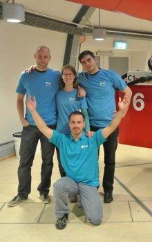 Český tým GRAVARC TNG během kampaně Spin Your Thesis! 2013.