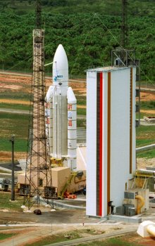 Ariane 5 na kosmodromu ESA v Kourou
