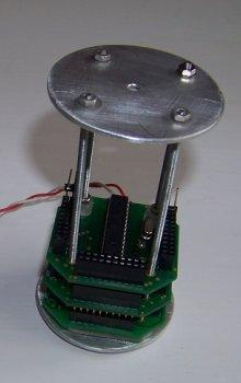 Vnitřek minidružice PragSAT.