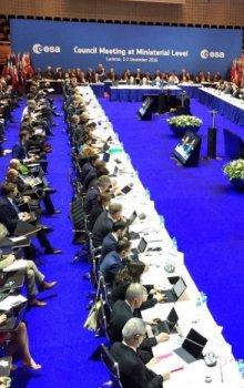 Průběh zasedání Rady ESA na ministerské úrovni.