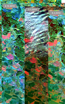 Time serie of Landsat 8 satellite imagery.