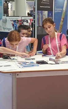 Young students were interested in the CSO booth.
