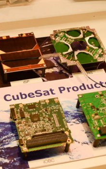 Components for CubeSats produced by Dutch company ISIS (Innovative Solutions in Space).