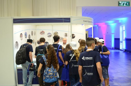 On Friday, almost all visitors of the congress exhibition formed groups of students.