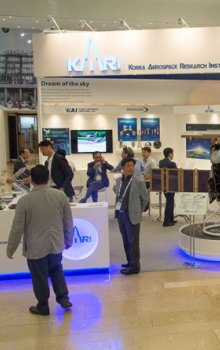 Booth of the Korean Aerospace Research Institute, KARI.