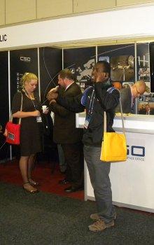 Stánek CSO na IAC 2011  Kapském Městě.
