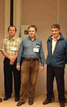 Tým pracovníků projektu DSLP (Z. Kozáček, J. Břínek, P. Trávníček, P. Vuilleumier, J. P. Lebreton).