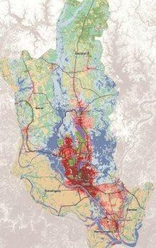 Landuse pro oblast Dháky v roce 1992.