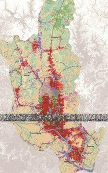 Landuse pro oblast Dháky v roce 2011.