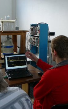 Photo taken during calibration campign in Autumn 2010.
