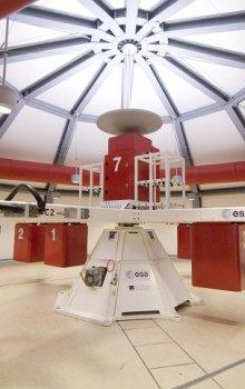 Velká centrifuga (LDC) v ESA/ESTEC, Nizozemsko.