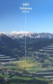 Okolí města Berchtesgaden v bavorských Alpách, kde probíhají testovací zkoušky pro účely provozu systému Galileo.