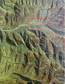 Mapový produkt pro oblast Afganistánu.