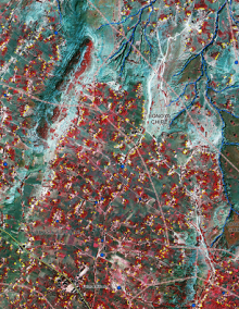 Mapový produkt z oblasti Etiopie.