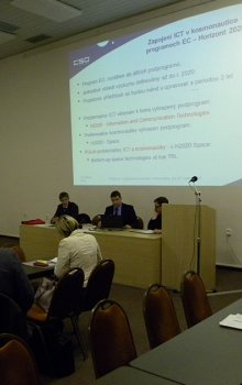 Jindřich Krása z CSO představil konkrétní příležitosti v kosmonautice pro ICT společnosti.