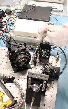 Testování funkčnosti přístroje European Laser Timing.
