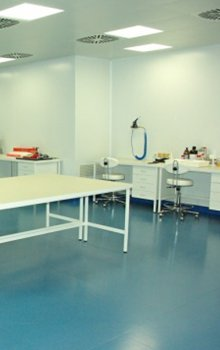 Company clean room premises.