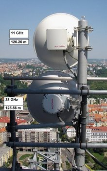 Antennas located on the TV Tower Prague.