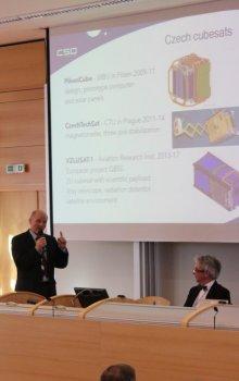 Presentation of the director of CSO, Jan Kolář on small satellites in the Czech Republic.