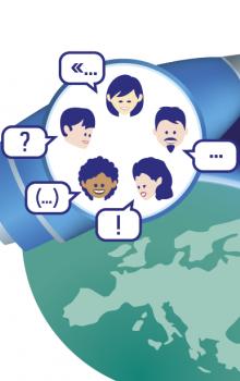 Logo veřejné debaty ESA s občany.