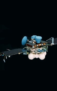 Model ruské sondy Mars 96, která na své palubě měla laserový altimetr s českou detekční diodou.