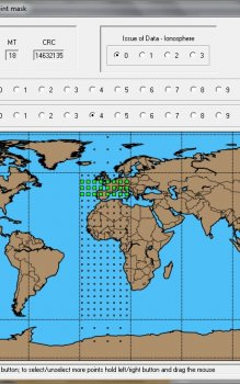 Grafické uživatelské rozhraní programu SBAS TeACHER.