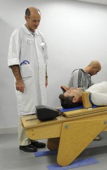 Souprava pro měření svalstva dolních končetin.