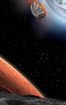 Ilustrace mise PHOOTPRINT k odběru vzorků z měsíce Phobos.