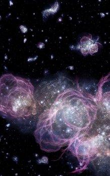 Umělecká představa velmi rané fáze vývoje vesmíru.