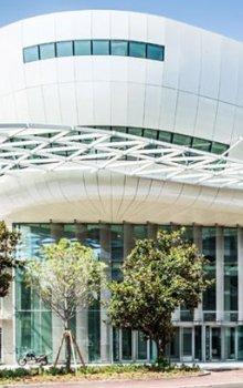 Kongresové centrum v Juan-les-Pins.
