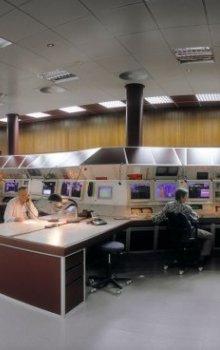 Hlavní řídící místnost GSI.