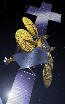 Ilustrace budoucí generace telekomunikační družice založené na družicové platformě NeoSat.