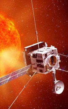 Ilustrace sondy Solar Orbiter určené k blízkému průzkumu Slunce.