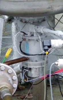Palivová elektrická pumpa během testování.