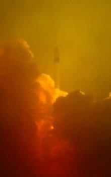 Start rakety Rokot s družicemi SMOS a Proba-2