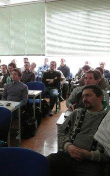 Semináře CSO o malých družicích v ČR se zúčastnilo na třicet posluchačů.