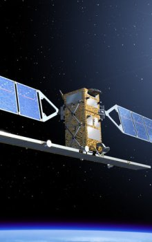 Ilustrace družice Sentinel-1.