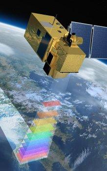 Simulace družice Sentinel-2.